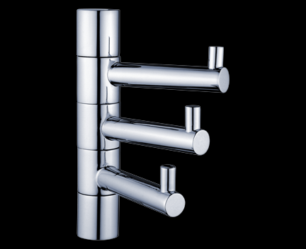 Handtuchhalter bormo dreifach mit haken drehbar perfecto design - Handtuchhalter design ...