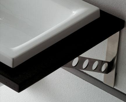 halter f r waschtischplatte design mit kreisen perfecto. Black Bedroom Furniture Sets. Home Design Ideas