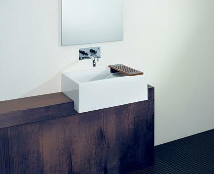 aufsatzwaschtisch comby mit berschlag perfecto design. Black Bedroom Furniture Sets. Home Design Ideas