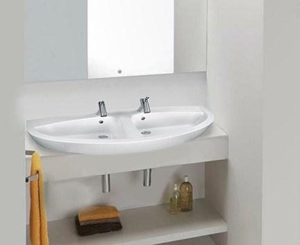 aufsatzwaschtisch oder h ngend new day doppelwaschbecken. Black Bedroom Furniture Sets. Home Design Ideas