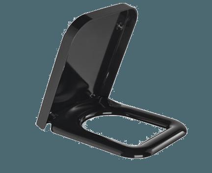 wc sitz advance 350 x 485 mm soft close schwarz. Black Bedroom Furniture Sets. Home Design Ideas