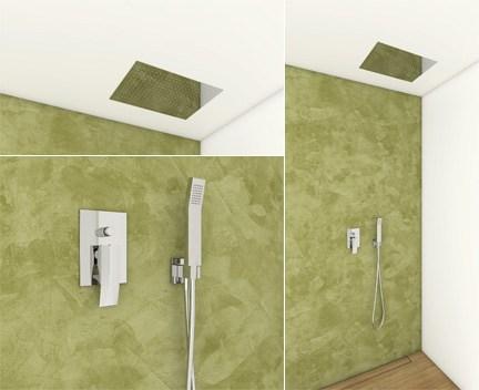 dusch set 770 hebel unterputz mit eingebautem duschkopf aus edelstahl 330x480mm und handbrause. Black Bedroom Furniture Sets. Home Design Ideas
