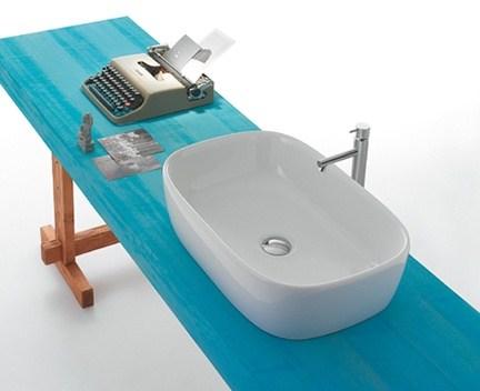 aufsatzwaschtisch genesis wei 600 x 400 x 150 perfecto design. Black Bedroom Furniture Sets. Home Design Ideas