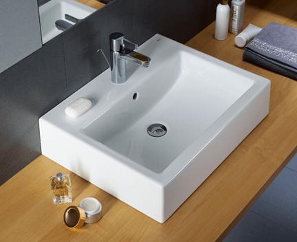 waschbecken twins 60 cm innen rechteckig mit ffnung kolo simple perfecto design. Black Bedroom Furniture Sets. Home Design Ideas