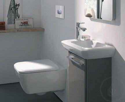 waschbecken h ngend 400 x 280 x 125 ffnung f r die armatur links perfecto design. Black Bedroom Furniture Sets. Home Design Ideas
