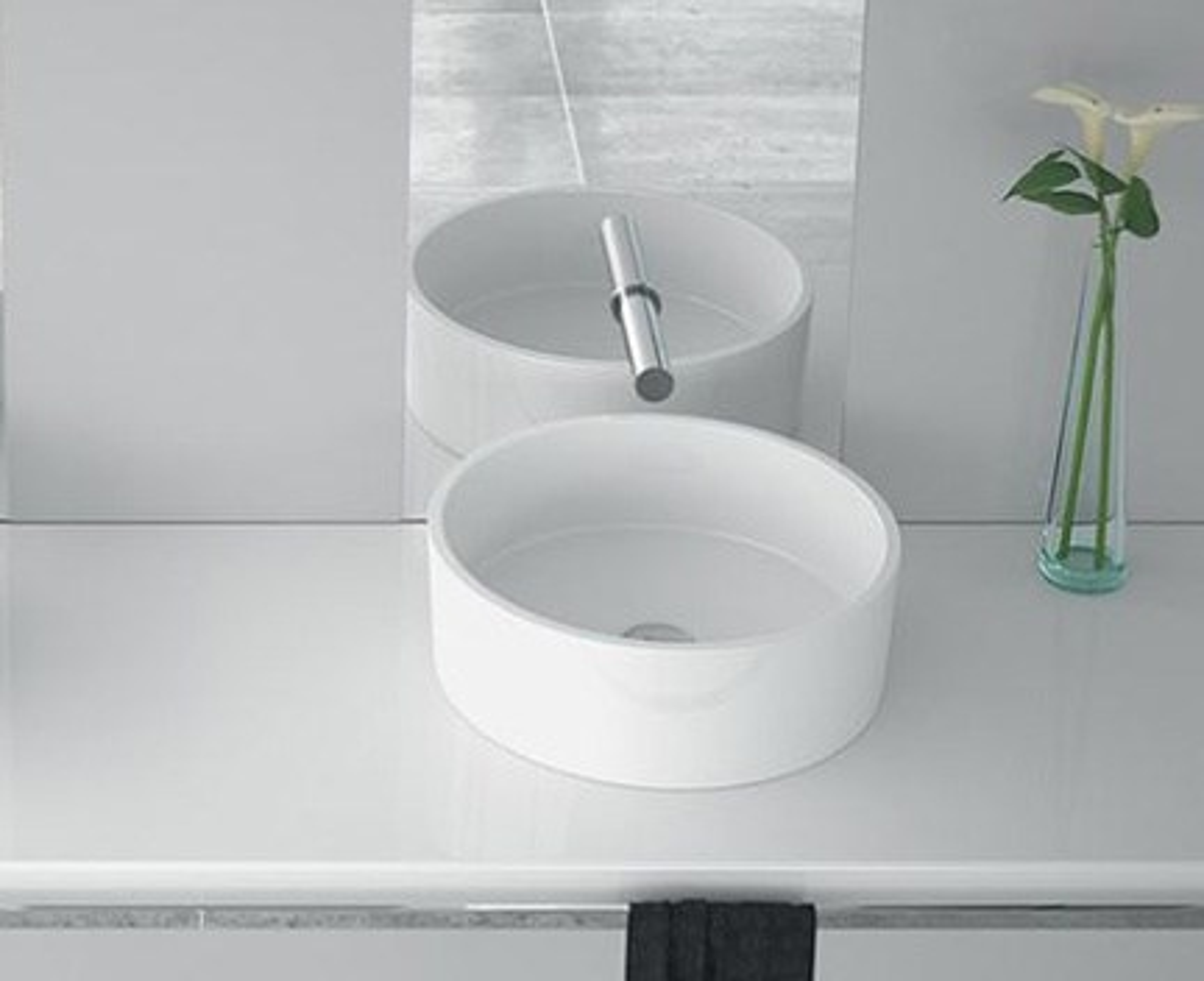 Waschbecken rund  Waschbecken RUND 40 400 x 400 x 150   Waschbecken   Weiß ...