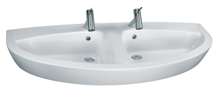 Aufsatzwaschtisch oder hängend New Day, Doppelwaschbecken ... | {Doppelwaschbecken rund 2}