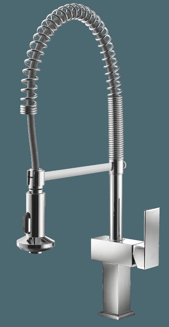 küchenarmatur cae 750 mit ergonomischer herausziehbarer brause