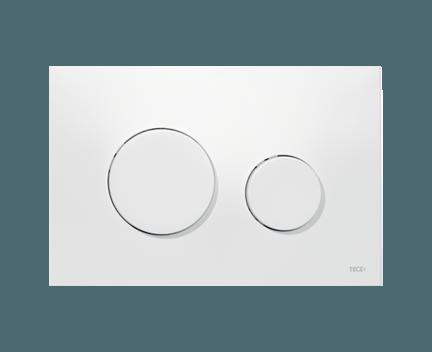 Wc Betatigungsplatte Loop Aus Weissem Kunststoff Und Mit Weissen