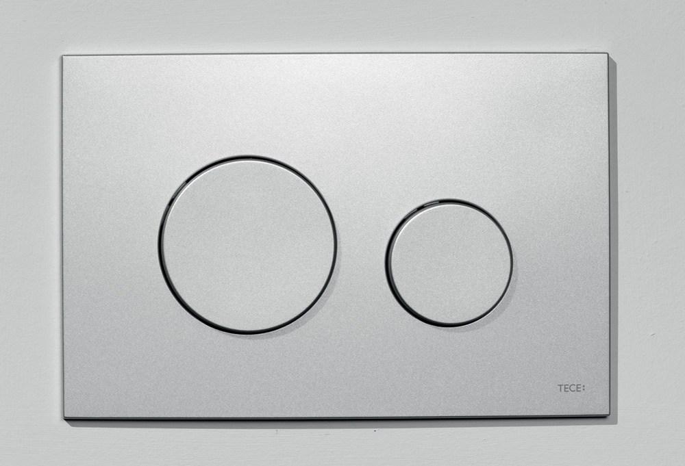 tece loop wc bet tigungsplatte f r zweimengentechnik aus kunststoff chrom matt perfecto design. Black Bedroom Furniture Sets. Home Design Ideas
