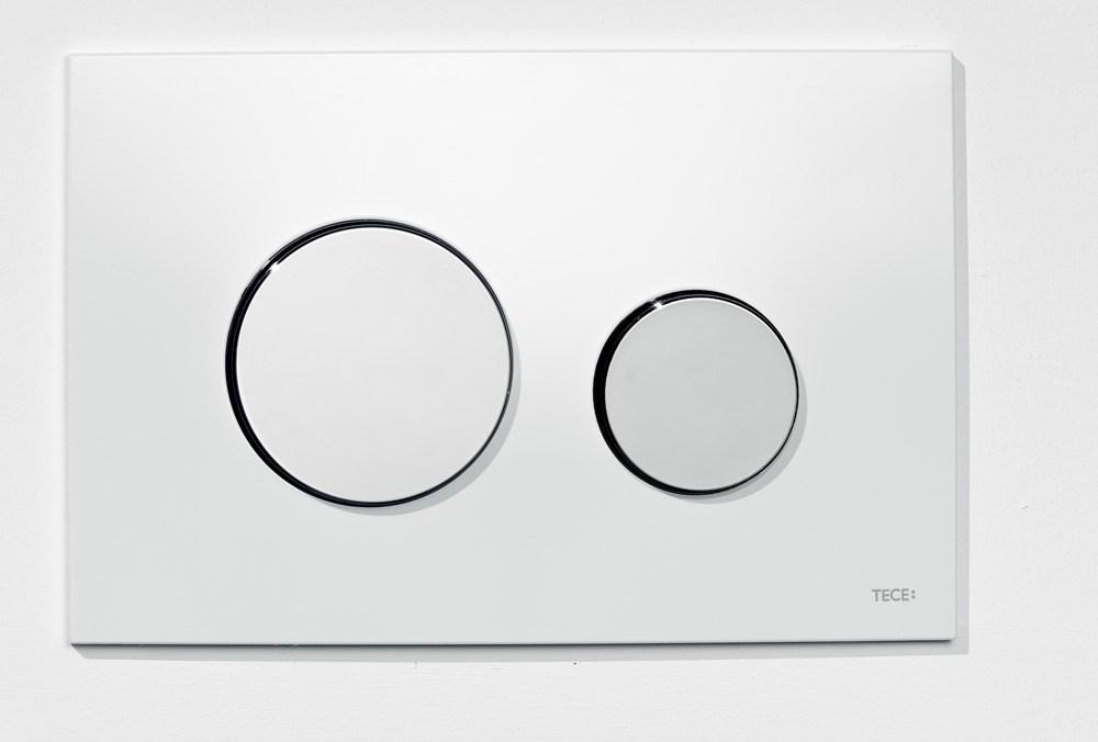 tece loop wc bet tigungsplatte f r zweimengentechnik wei chrom gl nzend perfecto design. Black Bedroom Furniture Sets. Home Design Ideas