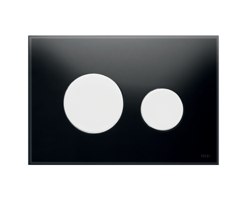 tece loop wc bet tigungsplatte glas f r zweimengentechnik schwarz wei perfecto design. Black Bedroom Furniture Sets. Home Design Ideas