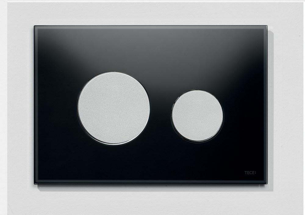 tece loop wc bet tigungsplatte glas f r zweimengentechnik schwarz chrom matt perfecto design. Black Bedroom Furniture Sets. Home Design Ideas