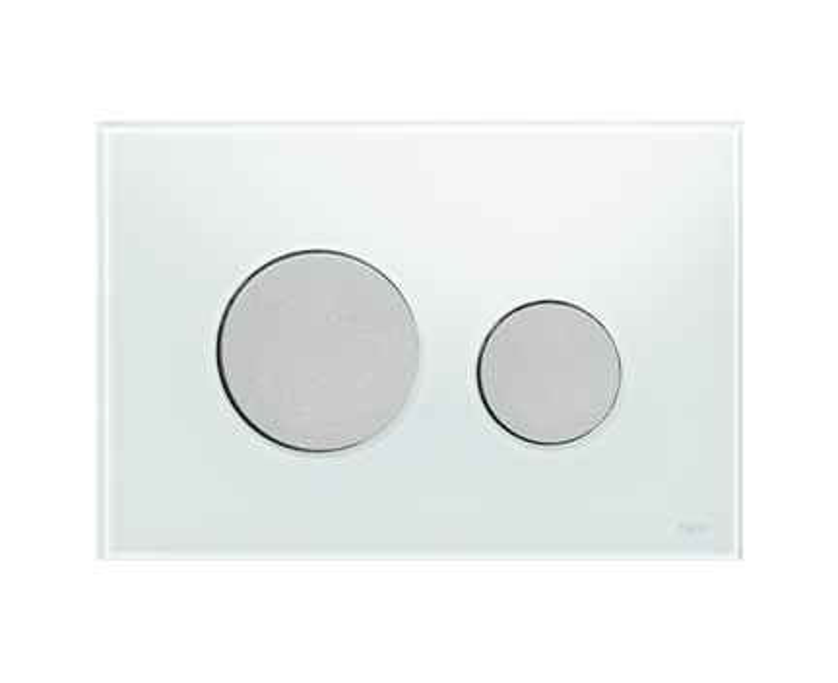 Tece Loop Wc Betatigungsplatte Glas Fur Zweimengentechnik Schwarz