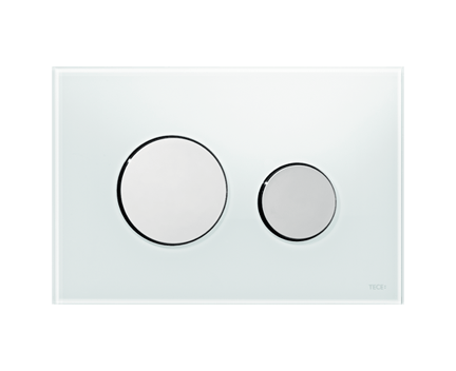tece loop wc bet tigungsplatte glas f r zweimengentechnik wei chrom gl nzend perfecto design. Black Bedroom Furniture Sets. Home Design Ideas