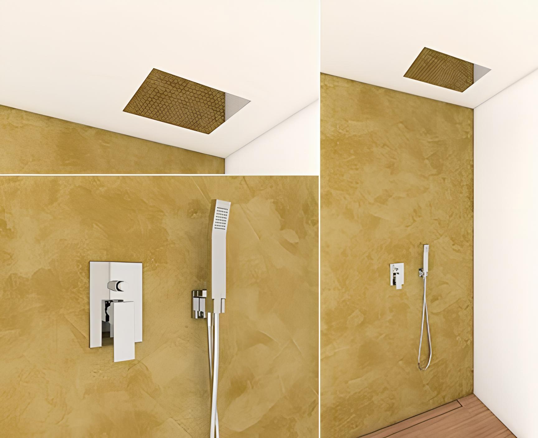 dusch set 750 hebel unterputz mit eingebautem duschkopf aus edelstahl 330x480mm und handbrause. Black Bedroom Furniture Sets. Home Design Ideas