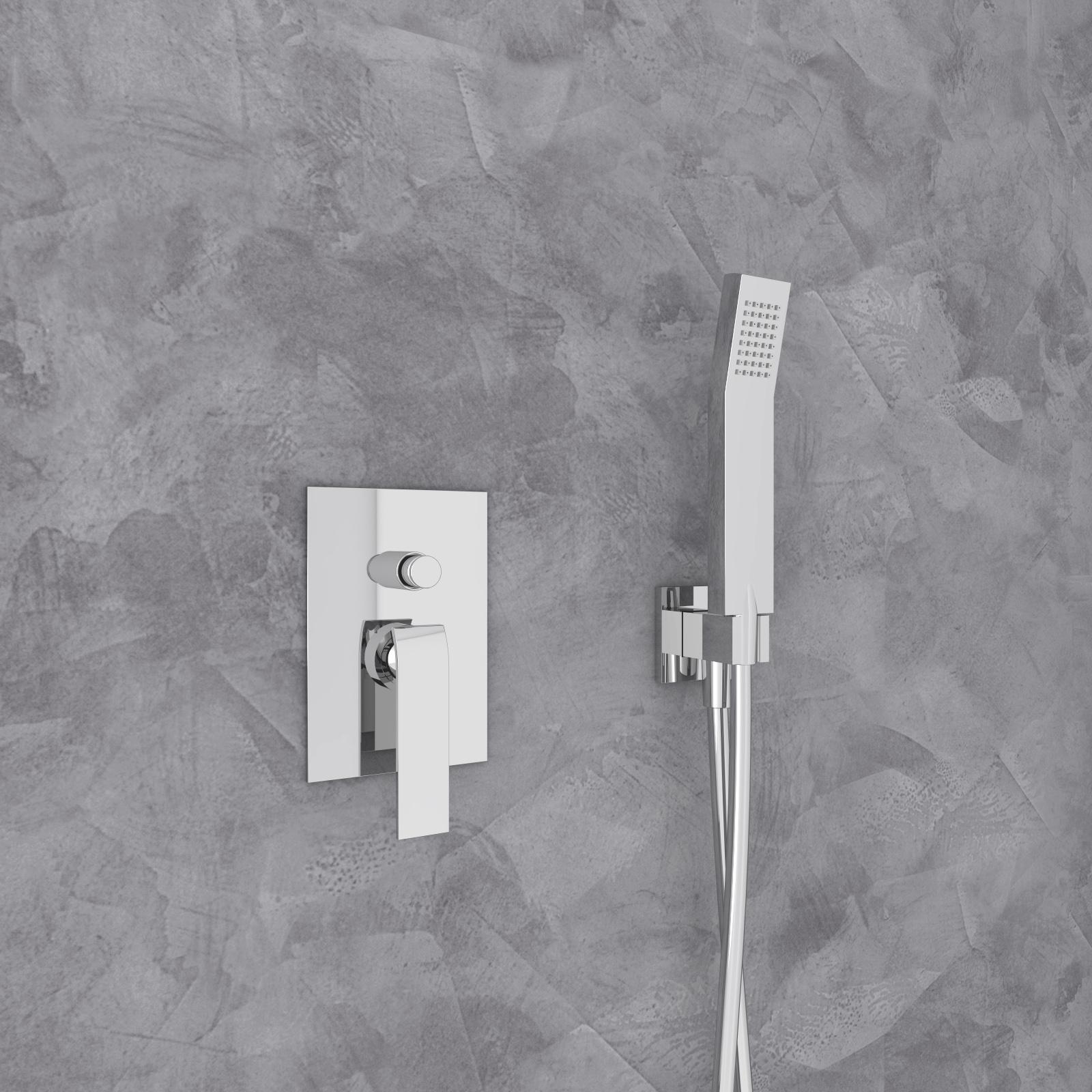dusch set 850 hebel unterputz mit eingebautem duschkopf aus edelstahl 330x480mm und handbrause. Black Bedroom Furniture Sets. Home Design Ideas