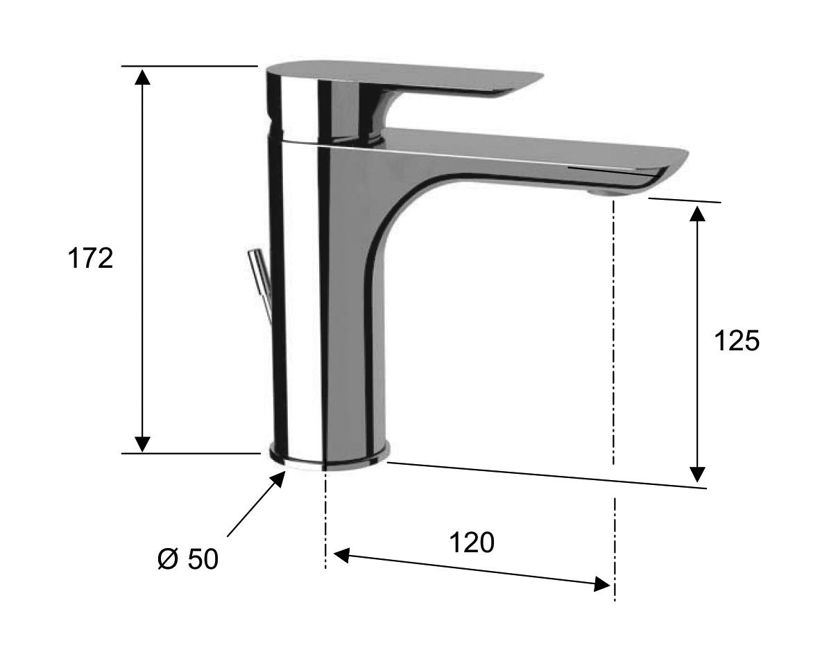 waschtischarmatur infinity mit der zugstange perfecto design. Black Bedroom Furniture Sets. Home Design Ideas