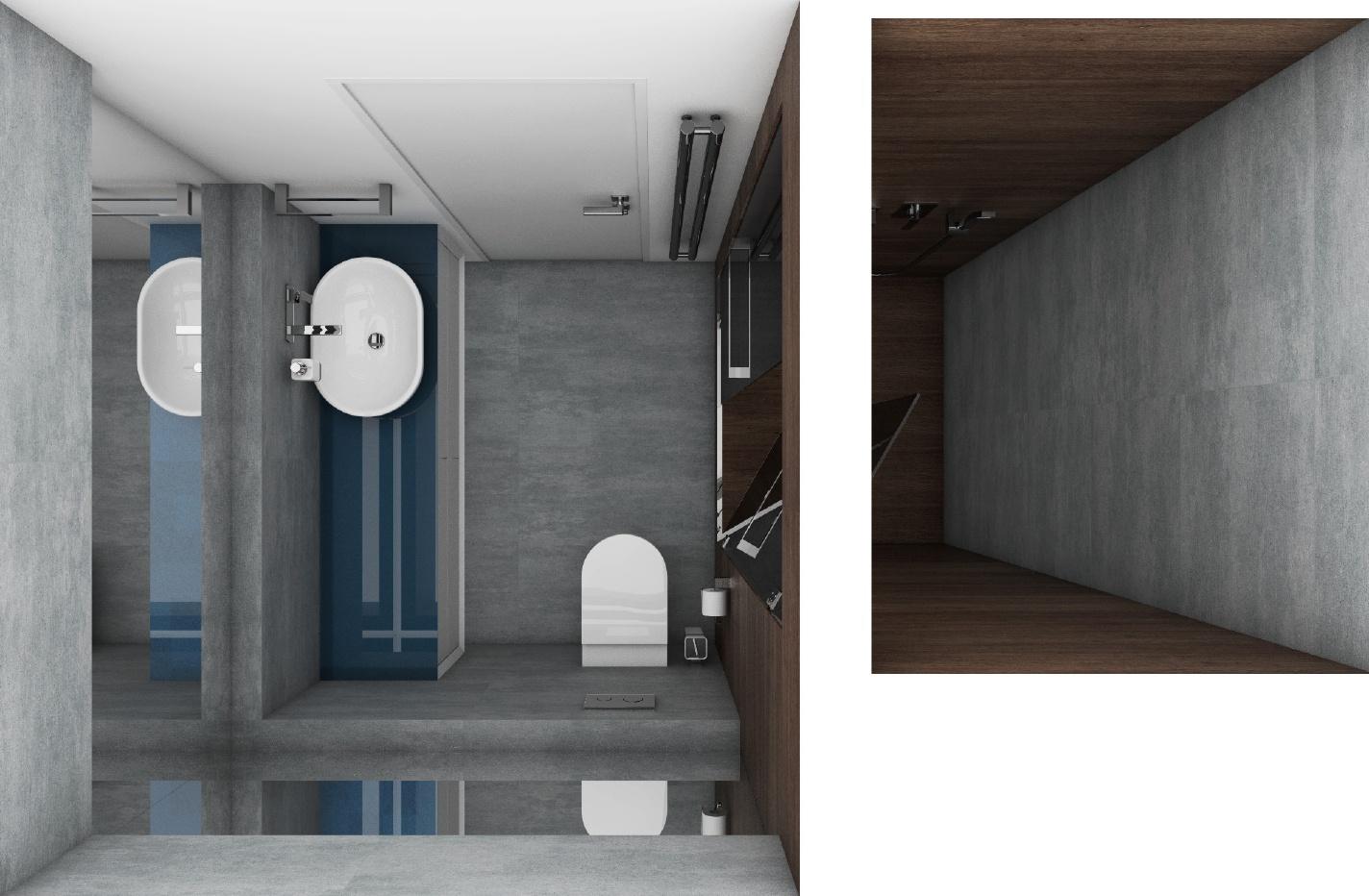 Modernes badezimmer cross blue perfecto design - Moderne badezimmer grundrisse ...