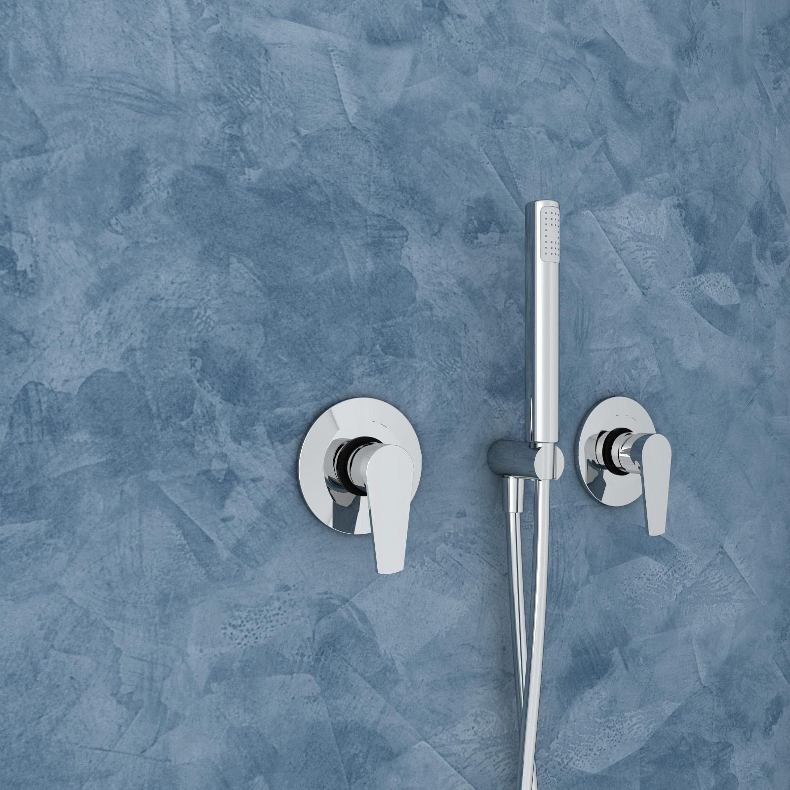 dusch set king hebel unterputz mit eingebautem duschkopf aus edelstahl 330x480mm und. Black Bedroom Furniture Sets. Home Design Ideas