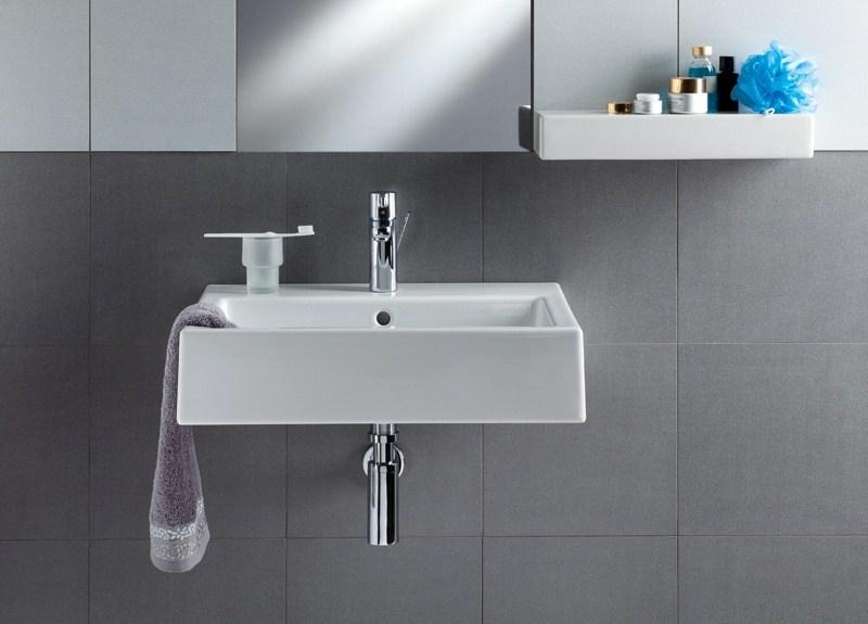 waschbecken twins 60 cm innen rechteckig mit ffnung kolo simple wei reflex perfecto design. Black Bedroom Furniture Sets. Home Design Ideas