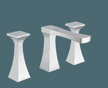 3 loch waschtischarmatur op r mit drei elementen chrom hochglanz perfecto design. Black Bedroom Furniture Sets. Home Design Ideas
