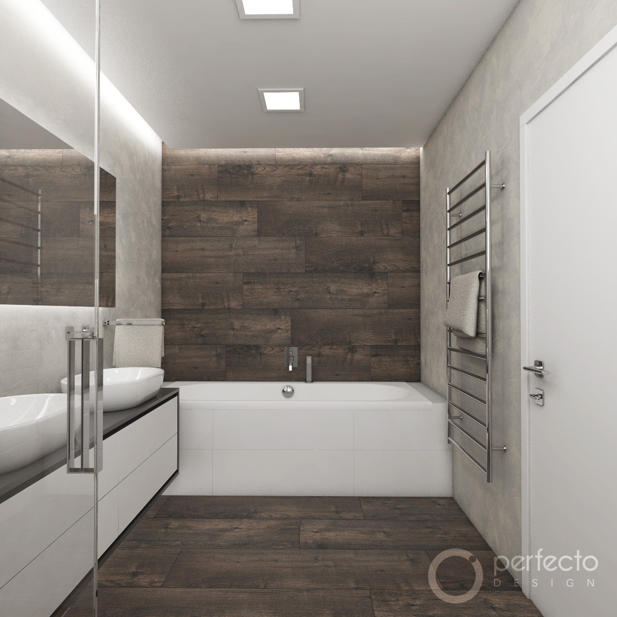 Moderne badezimmer musk visualisierung