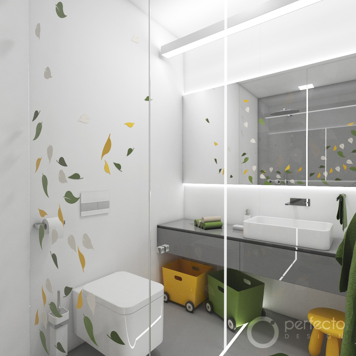 kinder-badezimmer jungle | perfecto design, Badezimmer