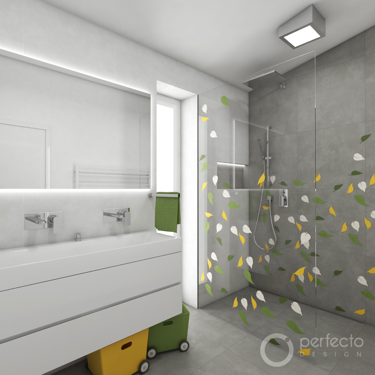kinder-badezimmer origami | perfecto design, Badezimmer