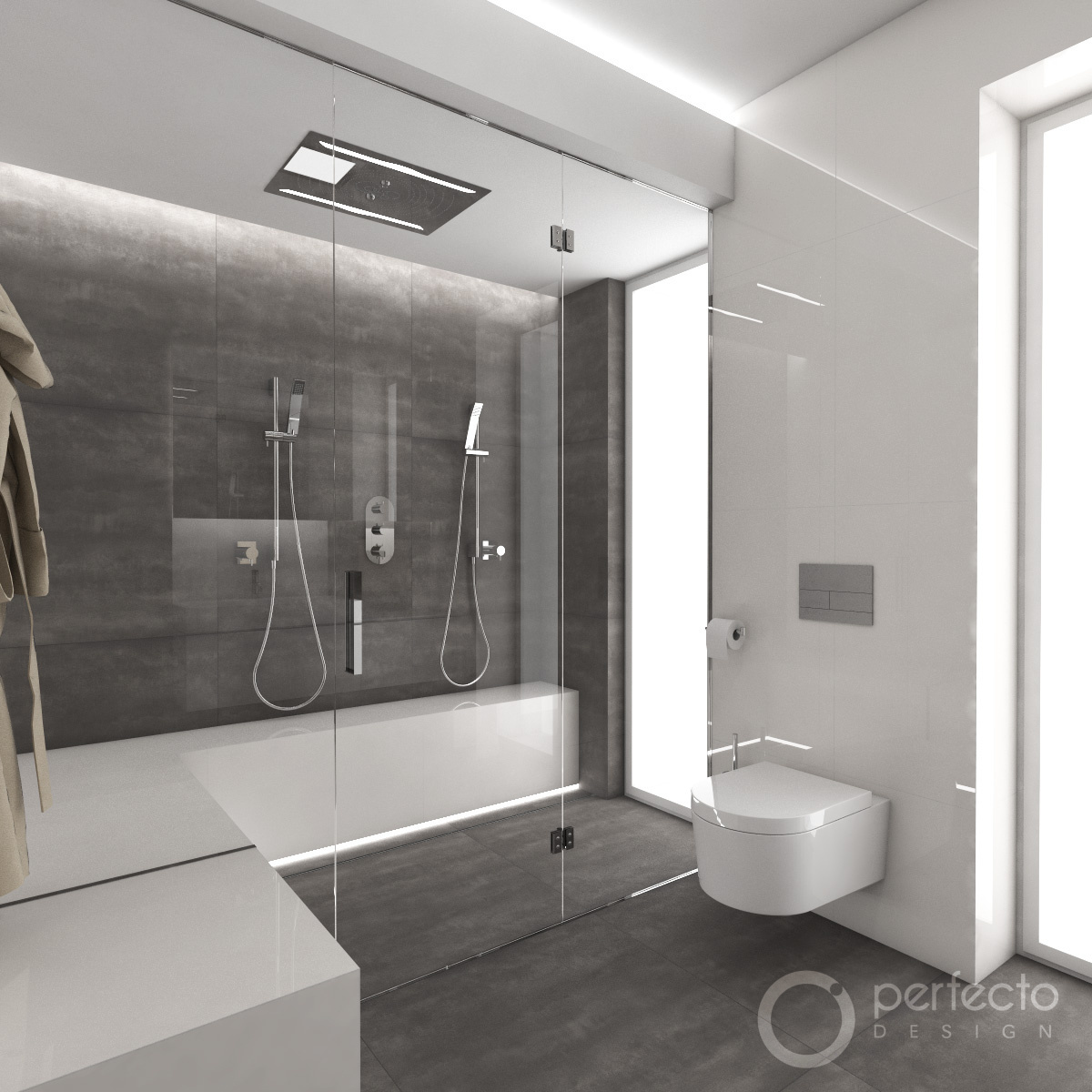 Modernes badezimmer minimal perfecto design for Bad designer