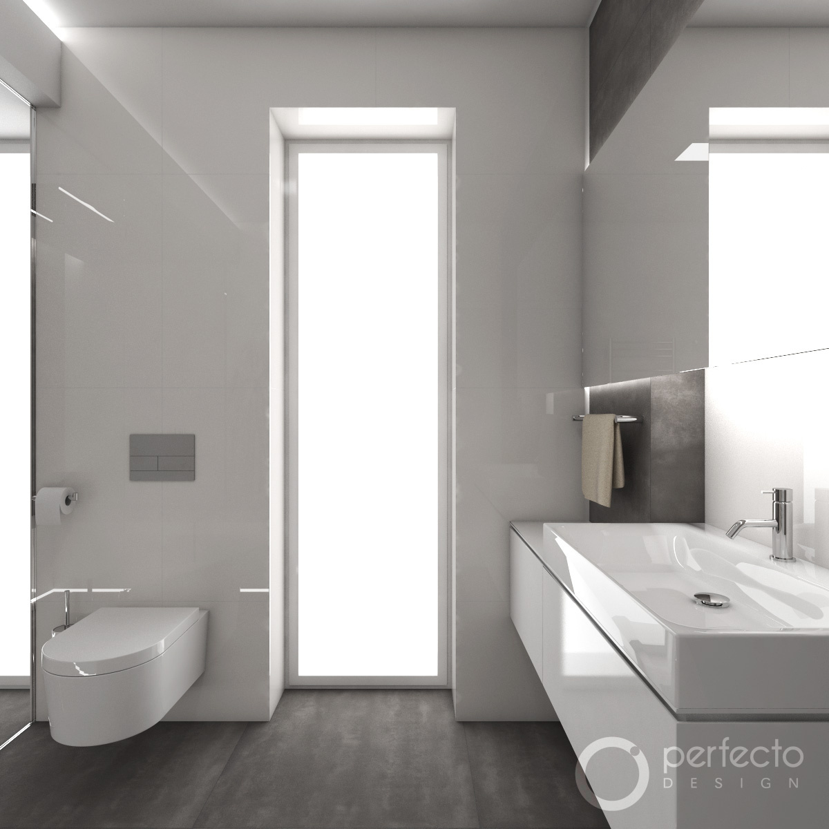 modernes badezimmer minimal perfecto design. Black Bedroom Furniture Sets. Home Design Ideas