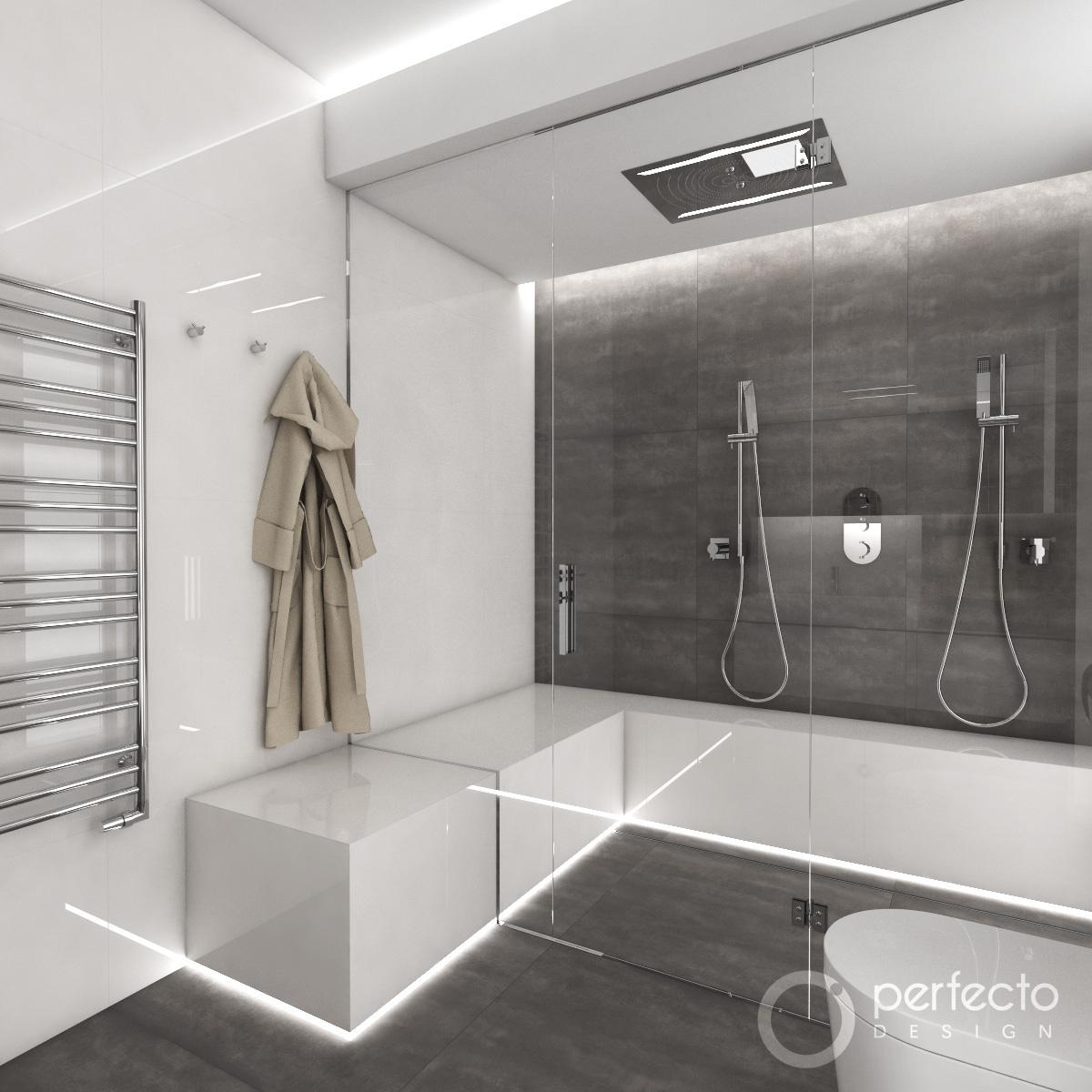 modernes badezimmer minimal visualisierung - Modernes Badezimmer