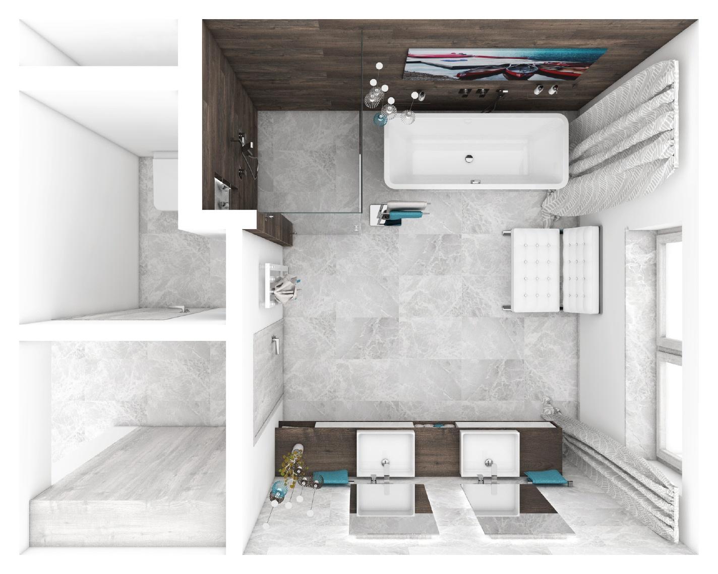 Modernes badezimmer river grundriss