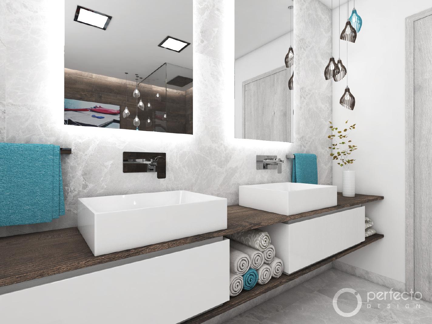 modernes badezimmer river | perfecto design - Modernes Badezimmer