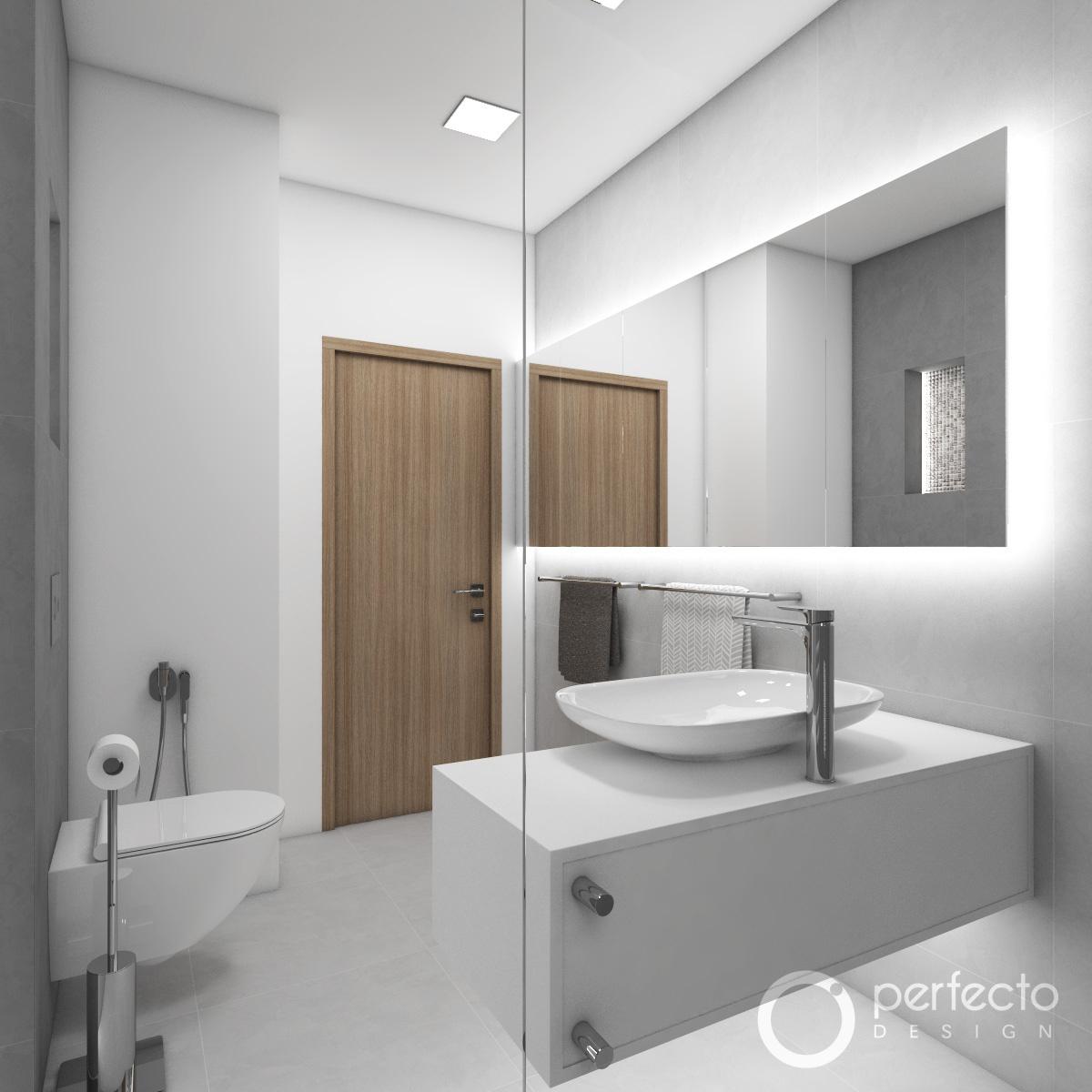 modernes badezimmer chicago perfecto design. Black Bedroom Furniture Sets. Home Design Ideas